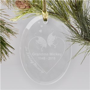Engraved In Loving Memory Ornament