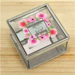 Personalized First My Mother Forever My Friend Jewelry Box