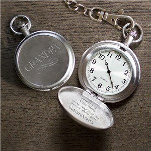 Personalized With Every Second We Love You More Pocket Watch