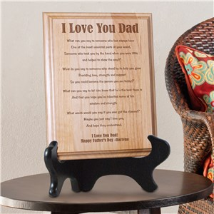 I Love You...Dad Personalized Father's Day Wood Plaque