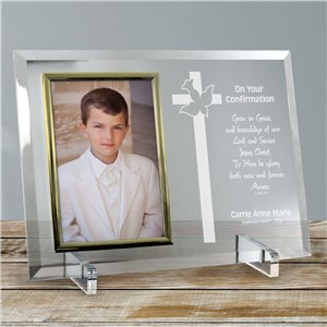 Personalized Confirmation Glass Picture Frame
