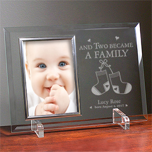 Became a Family New Baby Beveled Glass Picture Frame