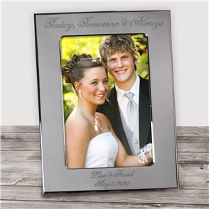Engraved Today, Tomorrow & Always Wedding Silver Picture Frame