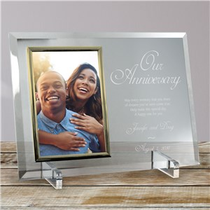 Our Anniversary Personalized Beveled Glass Frame