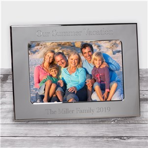 Family Vacation Silver  Frame