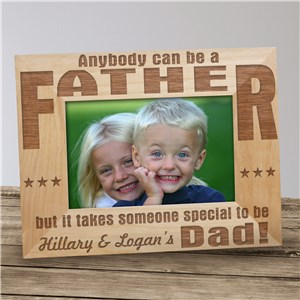 Engraved Dad Wood Picture Frame