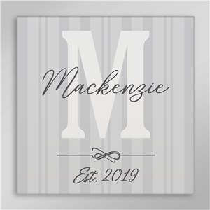 Personalized Family Initial Square Canvas
