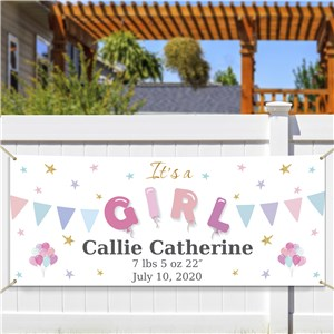 Personalized It's A Girl Banner