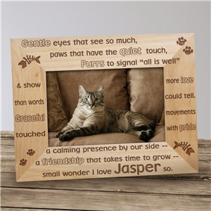 Gentle Kitty Wood Picture Frame
