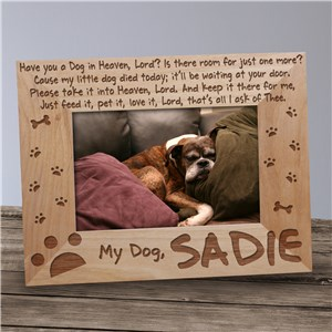 Dog Memorial Picture Frame - Have you a Dog in Heaven