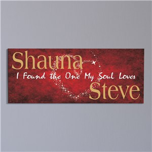 Personalized Soul Mates Canvas