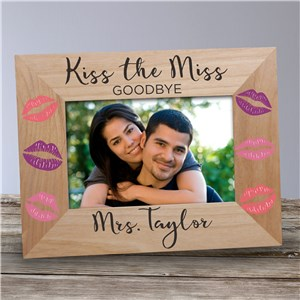 Personalized Kiss The Miss Goodbye Wood Frame