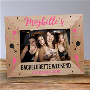 Personalized Bachelorette Weekend Wood Frame