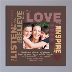 Thank You Personalized Photo Canvas