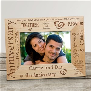 Our Anniversary Wood Picture Frame