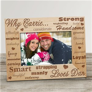 Why I Love You Engraved Picture Frame
