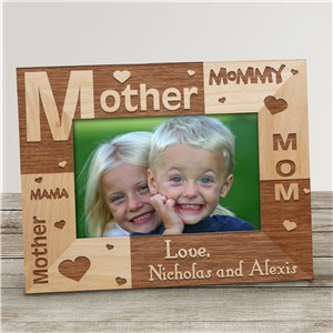 Mother's Day Personalized Wooden Picture Frame...Three Little Words