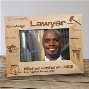 Personalized Lawyer Picture Frame