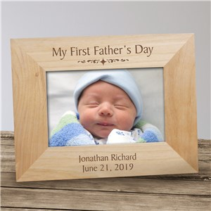 My First Fathers Day Wood Picture Frame