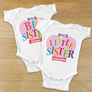 Personalized Little Sister Infant Apparel