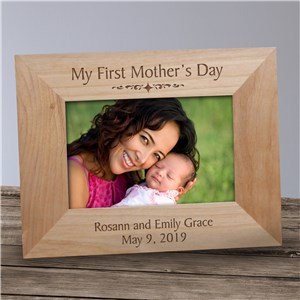 Personalized My First Mother's Day Wood Frame | Customizable Picture Frames