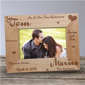 Mr. and Mrs. Wedding Wooden Picture Photo Frame