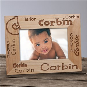 Custom  Name Wood Frame
