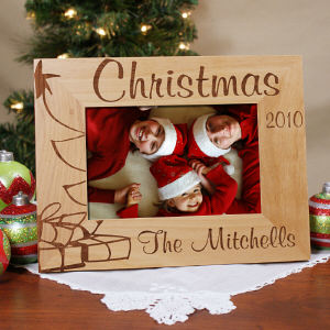 Christmas Tree Personalized Wood Picture Frame
