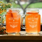 Engraved Groomsmen Mason Jar L960571