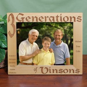 Personalized Generations Picture Frame