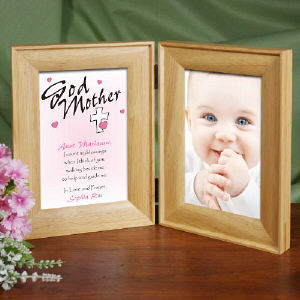 Personalized Godparent Picture Frame - Count My Blessings
