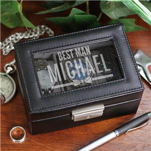 Personalized Wedding Party Bow Tie Watch Box