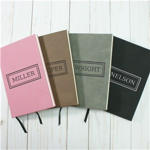 Personalized Name With Border Leather Journal
