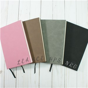 Personalized Initials Leather Journal