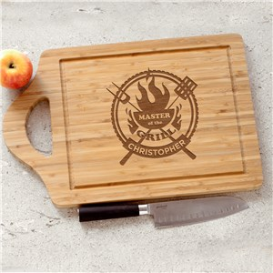 Engraved Master Of The Grill Cutting Board