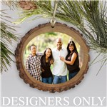 Personalized Photo Wood Round Ornament L13367166