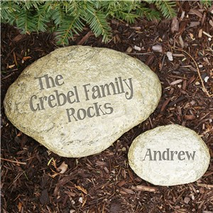 Engraved Family Yard Stone