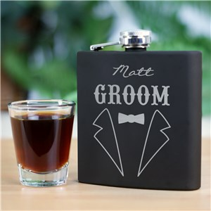 Engraved Groomsmen Flask