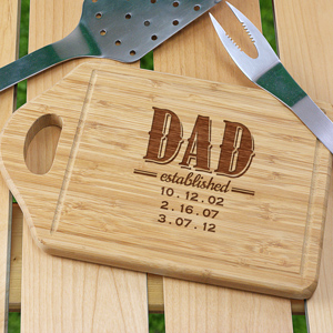 Established DAD cutting board with handle