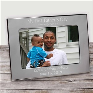 Engraved Father's Day Silver Frame