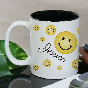 Personalized Smiley Faces Mug