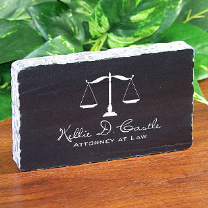 Personalized Marble Attorney at law Keepsake