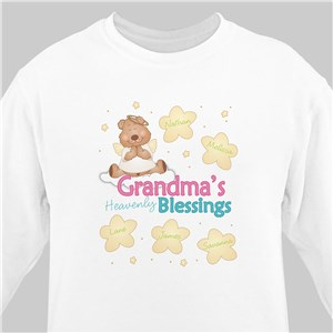 Heavenly Blessings Bear Personalized White Sweatshirt