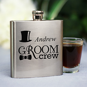 Personalized Groom Crew Flask