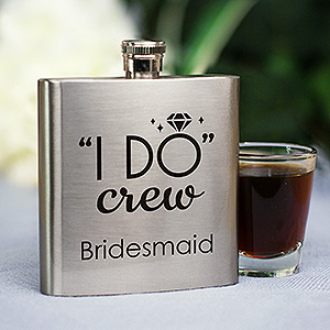 Personalized I Do Crew Flask