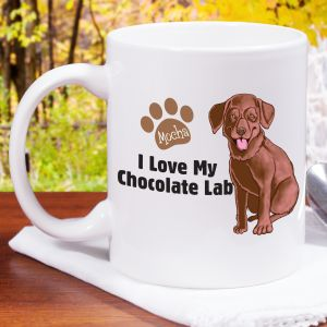 Personalized I Love My Chocolate Lab Mug