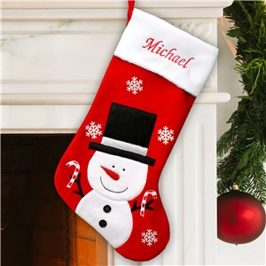 Frosty Velvet Christmas Stocking