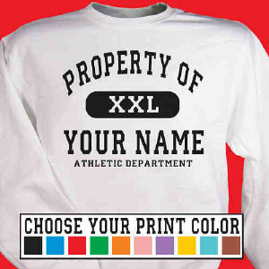 Property of Athletic Personalized Sweat Shirt
