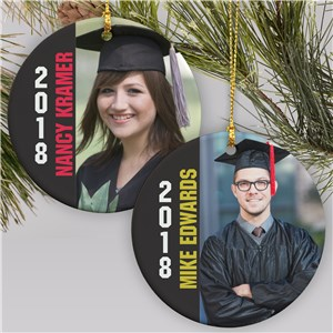 Personalized Photo Graduation Ornament
