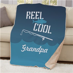 Personalized Reel Cool Sherpa Blanket